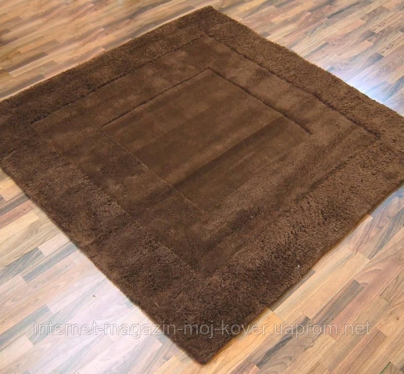 Купить однотонные шерстяные ковры шоколадного цвета
