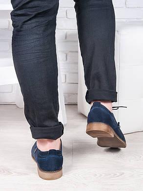 Мужские замшевые туфли т. синие 6879-28, фото 2