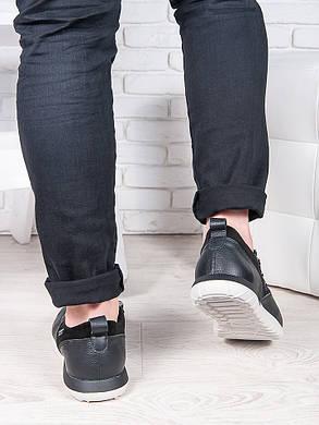 Мужские кроссовки кожа т. синий 6889-28, фото 2
