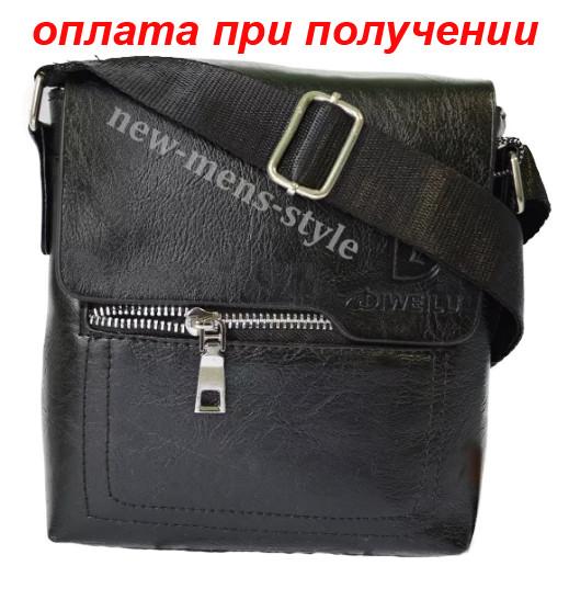 Чоловіча шкіряна фірмова сумка барсетка DIWEILU Polo класика купити