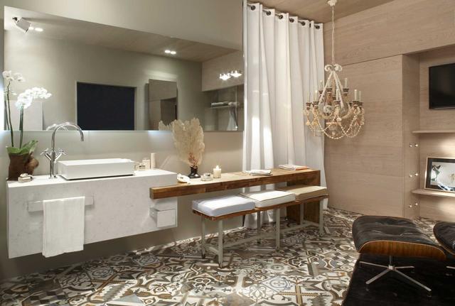 Cтолешница в ванную искусственный камень Silestone Lyra  - Photo