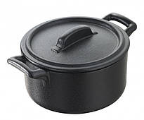 Кокотница круглая с крышкой Revol Bellе Cuisine черная 200мл (641637)