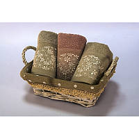 Набор полотенец махровых Begonville - Lauren 15 gri-pembe 30*50(3)