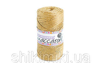 Трикотажный полиэфирный шнур PP Macrame,цвет золотой