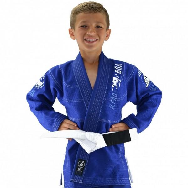 Детское кимоно для бразильского Джиу-Джитсу Boa Leão Синее