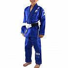 Детское кимоно для бразильского Джиу-Джитсу Boa Leão Синее, фото 2