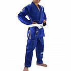 Детское кимоно для бразильского Джиу-Джитсу Boa Leão Синее, фото 3