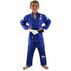 Детское кимоно для бразильского Джиу-Джитсу Boa Leão Синее, фото 4