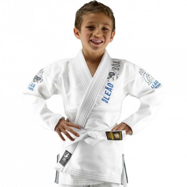 Детское кимоно для бразильского Джиу-Джитсу Boa Leao Белое