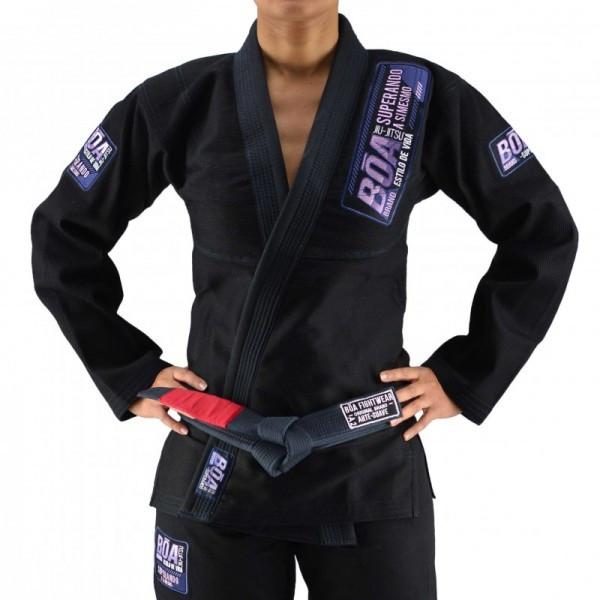 Женское кимоно для бразильского Джиу-Джитсу Boa Superando Черное