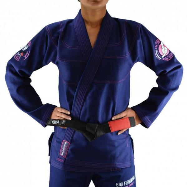 Женское кимоно для бразильского Джиу-Джитсу Boa Deusa Темно-синее
