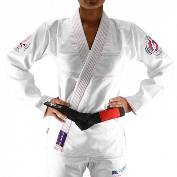 Женское кимоно для бразильского Джиу-Джитсу Boa Deusa Белое