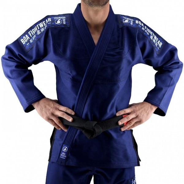 Кимоно для Бразильского Джиу-Джитсу Boa Treinado Темно-синее