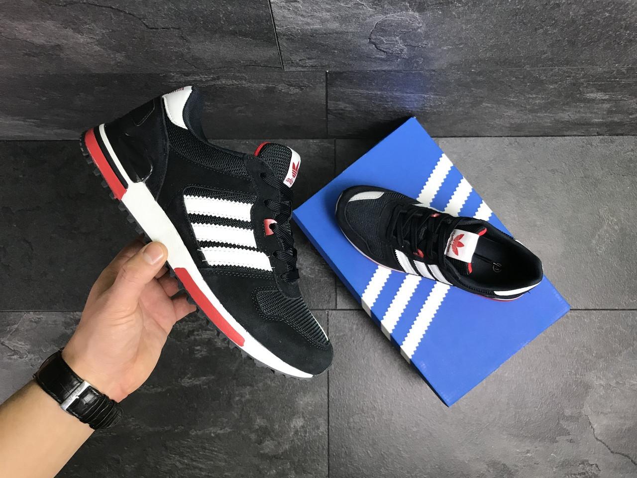 wholesale dealer 6842f 7889c ... Мужские кроссовки Adidas ZX 700,замшевые,темно синие с белым, ...