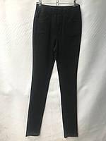 Джеггинсы женские норма с атласной лентой внизу размеры 25-30, черные, фото 1