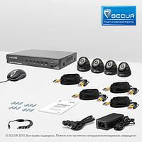 Комплект проводного видеонаблюдения Страж AHD Бюджет