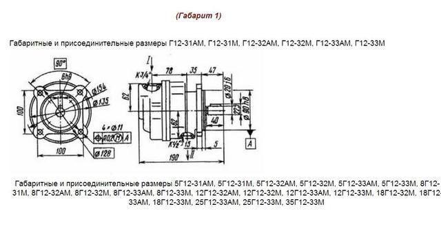 Насос Г12-33АМ пластинчатый нерегулируемый гидравлический, картинка, изображение, производитель