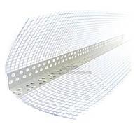 Уголок MAT ПВХ универсальный с сеткой из стекловолокна (100*100 мм) 25 мм, 25 м