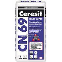 Смесь CERESIT CN 69 самовыравнивающаяся, 25 кг