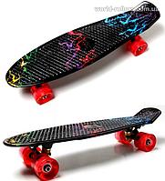 """Penny Board """"Молния"""" Светящиеся колеса., фото 1"""