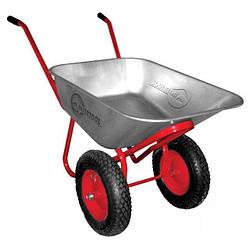 Тачка садово-строительная Intertool - 65 л x 160 кг x (3.5-8.0) 2 колеса (WB-0625)