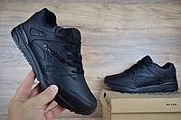 Мужские кроссовки в стиле Reebok Hexalite кожа полностью черные , фото 1