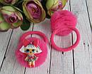 Резинки для волос фатиновые шарики с куклами LOL 12 шт/уп., фото 3