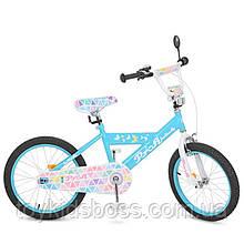Велосипед дитячий PROF1 20д. Butterfly 2,блакитний