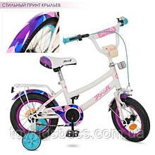 Велосипед дитячий PROF1 12д. Geometry,білий,дзвінок