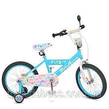 Велосипед дитячий PROF1 18д. Butterfly 2,блакитний