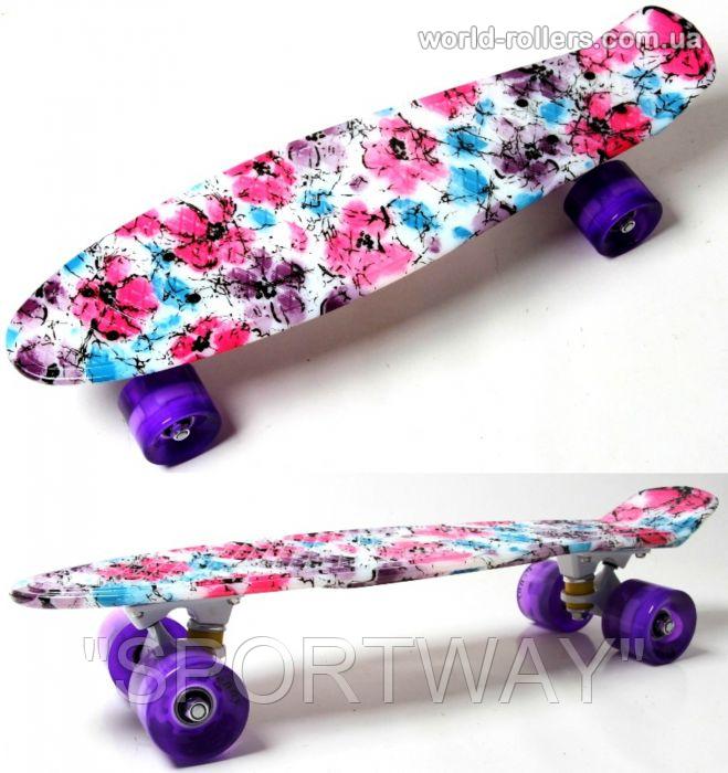 "Penny Board Picture ""Flowers chamomile"" Светящиеся колеса."