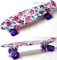 """Penny Board Picture """"Flowers chamomile"""" Светящиеся колеса., фото 1"""