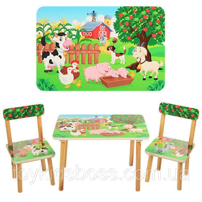 Столик деревянный со стульчиками