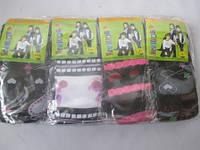Детские лосины черного цвета с ярким рисунком.