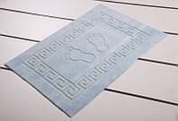 Махровый коврик для ванной прорезиненный Lotus 45*65 аква