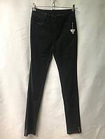 Джеггинсы женские норма, под ремень, размеры 25-30, темно-серые, фото 1