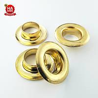 Люверсы метал 13мм (№28). Золото. Турция (50шт)