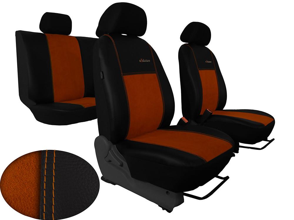Авточохли універсальні (повний набір) Pok-ter Exlusive Алькантара коричневий