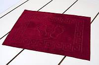 Махровый коврик для ванной прорезиненный Lotus 45*65 бордо