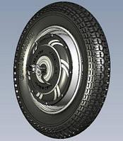Мотор-колесо PW16D 2кВт для электроскутера Golden motor