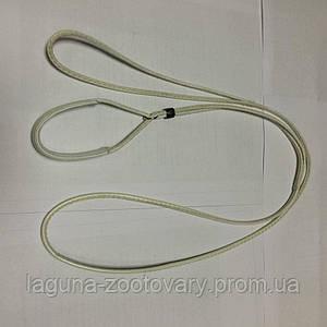 Ринговка кожаная выставочная для собаки 135/110см/4мм, белый
