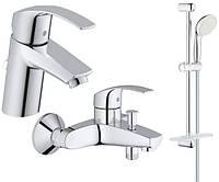 Набор смесителей для ванной S-size Grohe EuroSmart 123238S