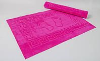Махровый коврик для ванной прорезиненный Lotus 45*65 фуксия