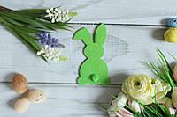 """Фетровый декор """"Кролик с хвостиком """", 11 х 6 см,салатового цвета, фото 1"""