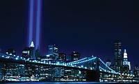Фотообои готовые Бруклинский мост в синем цвете  размер 368 х 254 см