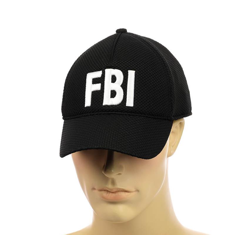 """Кепка на гумці з вишивкою """"FBI"""""""