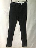 Джеггинсы женские норма, под ремень, рваные, размеры 25-30, темно-серые, фото 1