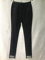 Джеггинсы женские норма, размеры 25-30, темно-синиес серебряным отворотом, фото 1