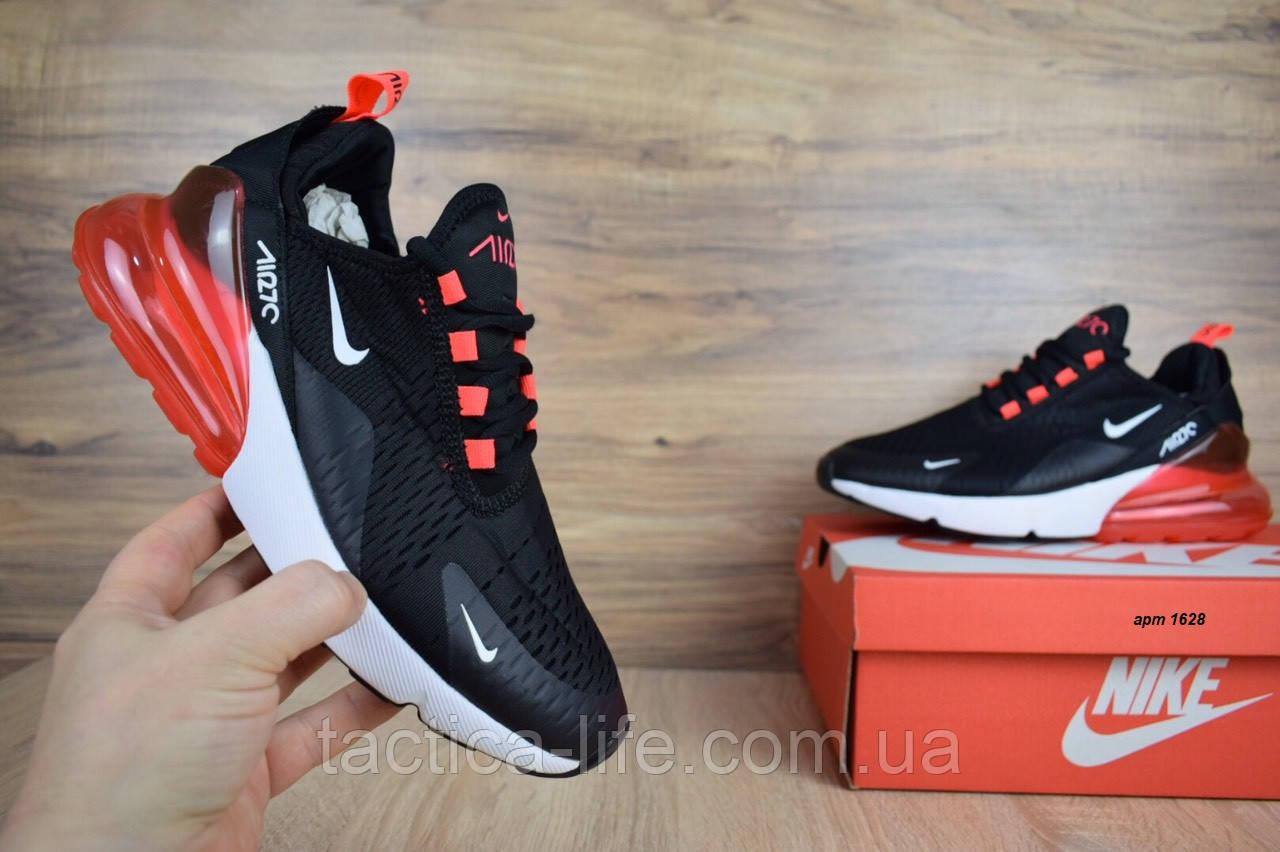 0f6516d4 Мужские кроссовки Nike Air Max 270 красные с черным (ТОП реплика ...