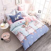 Комплект постельного белья Котята (двуспальный-евро) Berni